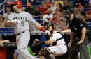 Marcell Ozuna's 9th-inning homer not enough for Marlins vs. Angels