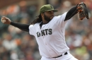 Cueto returns to ace form as Giants clobber Braves