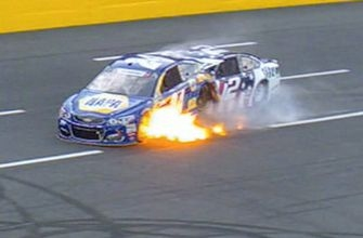 Chase Elliott, Brad Keselowski involved in fiery Coca-Cola 600 crash