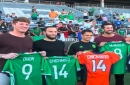 """Mexico's """"Chicharito"""" greeted by Broncos in Denver"""