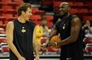 Luke Walton brought Lamar Odom to watch the Lakers' pre-draft workouts