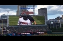 Cleveland Indians fans welcome Rajai Davis with rousing ovation before first at-bat