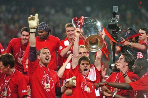 Which four Liverpool players have featured in UEFA Team of the Year since 2001?