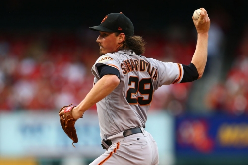 Giants beat Brewers and reward Samardzija, whose strikeout pace is reaching Lincecum levels