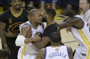 Golden State's David West went face-to-face with Cleveland's Tristan Thompson and the internet lost its mind