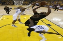 Tristan Thompson throws down one-handed alley oop dunk from LeBron James in Game 5