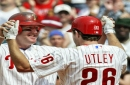 Dodgers infielder Chase Utley shows love for Cleveland Indians legend Jim Thome