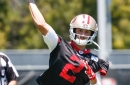 Brian Hoyer organizing throwing session with receivers before training camp