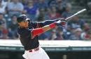 Erik Gonzalez rips first big-league home run Thursday against Dodgers