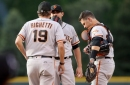 Buster Posey injures himself … on a home run swing?