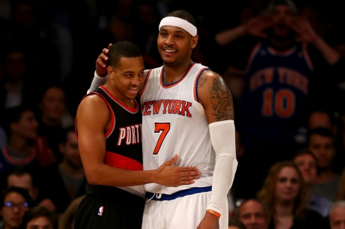 """Evan Turner: Carmelo Anthony """"Would Help Dame and CJ a Lot"""""""