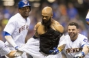 Eric Thames homers to win the game but then loses his jersey