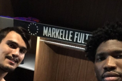 It sure looks like Joel Embiid and Dario Saric expect Markelle Fultz to be their Sixers teammate