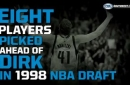 Who was pick ahead of Dirk in the 1998 draft?