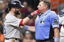 Dustin Pedroia has 'substantial swelling' but Boston Red Sox second baseman's X-rays returned negative