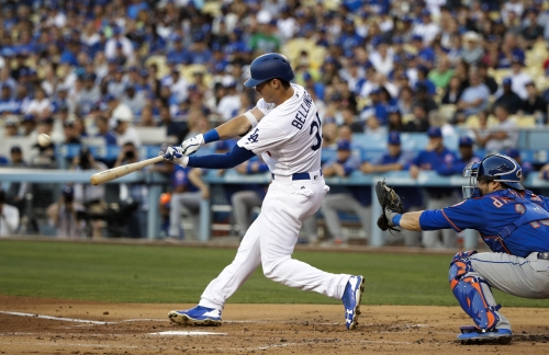Cody Bellinger, Dodgers' rookie, becomes fastest to 21 home-run-mark