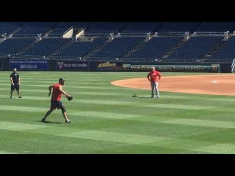 Eduardo Rodriguez, Boston Red Sox LHP, looks strong fielding grounders, covering bag at Kauffman Stadium (VIDEO)