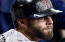 Dustin Pedroia still has swelling; Boston Red Sox placed Pablo Sandoval on DL after ear infection worsened Monday
