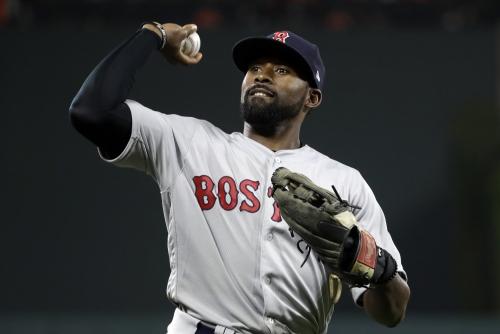 Jackie Bradley Jr.'s near 400-foot throw before his Boston Red Sox days still amazes Royals' Whit Merrifield