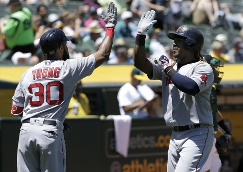 Hanley Ramirez, Dustin Pedroia not in Boston Red Sox lineup; red hot Chris Young at DH for series finale vs. Royals