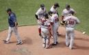 Matt Barnes, Boston Red Sox bullpen implode in eighth inning as Royals win on Salvador Perez's grand slam