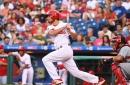Watch: Cameron Perkins Gets 1st MLB Hit