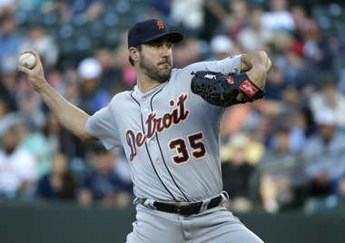 Tigers' Justin Verlander perfect through 5 innings in Seattle