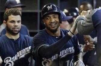 Santana's 2-run homer lifts Brewers over Pirates