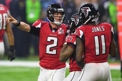 NFL MVP odds for Matt Ryan and Julio Jones in 2017