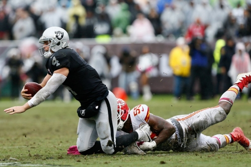 "It's a good day to watch Derek Carr's ""highlights"" against the Chiefs"