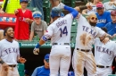 Gomez homers twice, Rangers win for split with Blue Jays