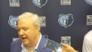 Grizzlies GM Chris Wallace reacts to the draft