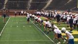Watch: High school players run drills at Michigan elite camp
