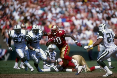 Which of Steve Young, Garrison Hearst, & Alex Smith had the most memorable run?