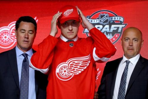 Red Wings pick big forward Rasmussen in draft