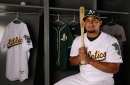 Oakland A's promote No. 1 prospect Franklin Barreto; Chad Pinder to disabled list