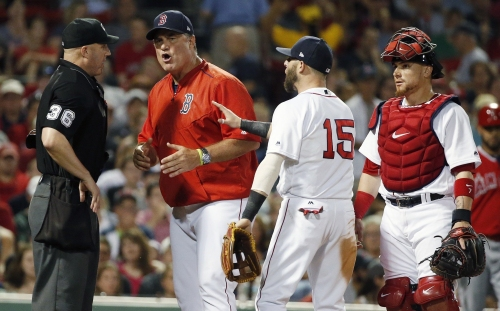 John Farrell ejected from Red Sox vs. Angels after Fernando Abad balk brings in run (video)