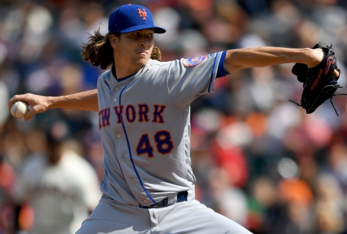 Jacob deGrom dominates over 8 innings as Mets beat Giants, 5-2
