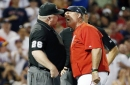 John Farrell ejection: Red Sox manager says time was called before Fernando Abad balk