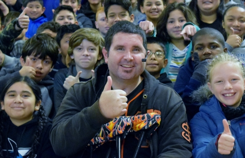 A visit from Bryan Stow lifts the Giants' spirits