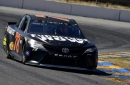 Top 10 drivers in Stage 1 of Monster Energy Series race at Sonoma
