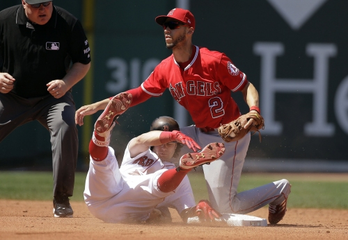 Red Sox bats quiet again in second straight loss to Angels, spoiling Doug Fister's solid Boston debut