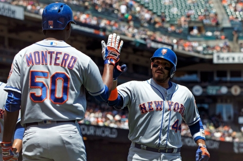 Rene Rivera hits 2 HRs, Mets sweep struggling Giants with 8-2 win