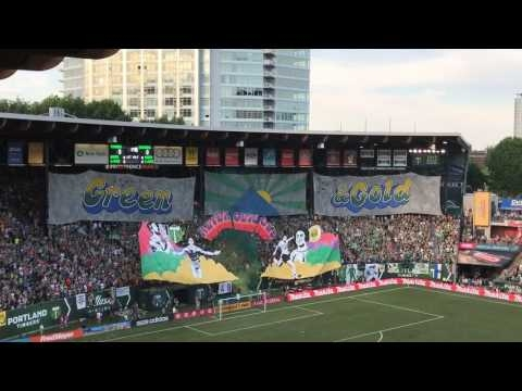 Timbers Army unveils expansive tifo for Portland Timbers vs. Seattle Sounders game