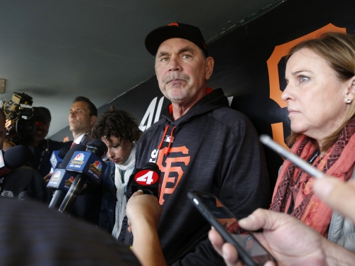 """Giants manager Bruce Bochy dismisses report of clubhouse friction as """"pole vaulting over mouse turds"""""""