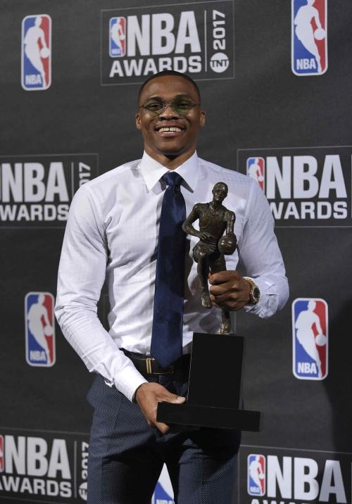Russell Westbrook wins NBA MVP