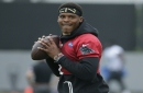 Panthers' Cam Newton throws for 1st time since March surgery