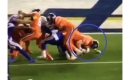 Watch Broncos center Matt Paradis pancake a Chargers lineman