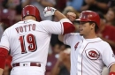 Reds slug four home runs in 8-6 win over Brewers