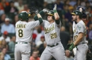 Game #77: Healy Slams A's to 6-4 Win